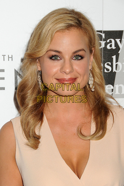 "Jessica Collins.LA Gay & Lesbian Center's ""An Evening With Women"" 2013 held at the Beverly Hilton Hotel, Beverly Hills, California, USA, 18th May 2013..portrait headshot nude beige cream dress sleeveless .CAP/ADM/BP.©Byron Purvis/AdMedia/Capital Pictures"