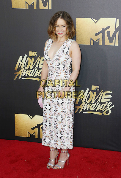 BURBANK, CA - APRIL 09: Actress Emilia Clarke attends the 2016 MTV Movie Awards at Warner Bros. Studios on April 9, 2016 in Burbank, California.<br /> CAP/ROT/TM<br /> &copy;TM/ROT/Capital Pictures