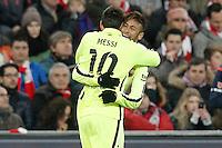 FC Barcelona's Leo Messi and Neymar Santos Jr celebrate goal during La Liga match.February 8,2015. (ALTERPHOTOS/Acero) /NORTEphoto.com