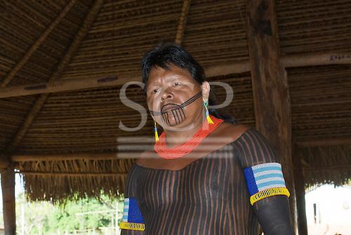 Pará State, Brazil. Aldeia Kokraimoro (Kayapo). Pukanyk Kayapo.