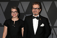 HOLLYWOOD, CA - NOVEMBER 11: Gisele Schmidt, Gary Oldman at the AMPAS 9th Annual Governors Awards at the Dolby Ballroom in Hollywood, California on November 11, 2017. Credit: David Edwards/MediaPunch /NortePhoto.com