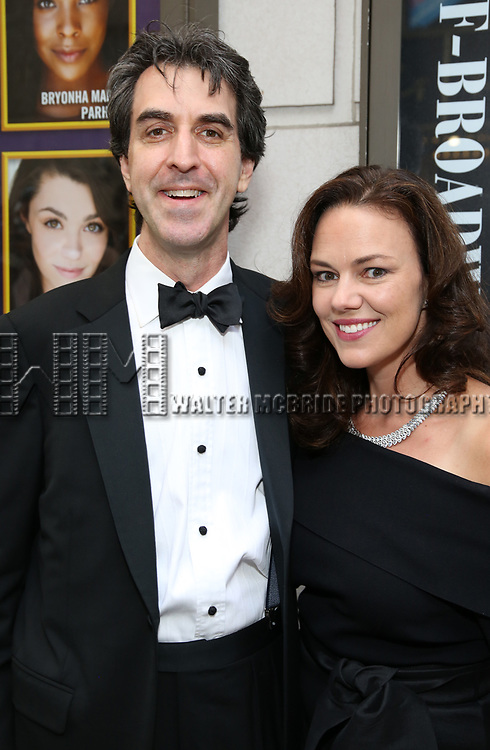 Jason Robert Brown and Georgia Stitt attend the Broadway Opening Night performance of 'The Prince of Broadway' at the Samuel J. Friedman Theatre on August 24, 2017 in New York City.