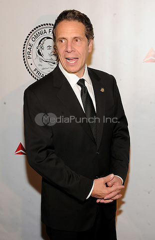 New York, NY- October 7: New York Governor Andrew Cuomo attends the Friars Foundation Gala honoring Robert De Niro and Carlos Slim at the Waldorf-Astoria on October 7, 2014 in New York City. Credit: John Palmer/MediaPunch