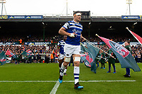 Francois Louw and the rest of the Bath Rugby team run onto the field. Gallagher Premiership match, between Leicester Tigers and Bath Rugby on May 18, 2019 at Welford Road in Leicester, England. Photo by: Patrick Khachfe / Onside Images