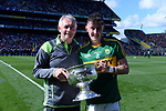 17-1-2017: James Foley and Sean O'Leary from Kilcummin celebrate after  the All-Ireland Football final at Croke Park on Sunday.<br /> Photo: Don MacMonagle