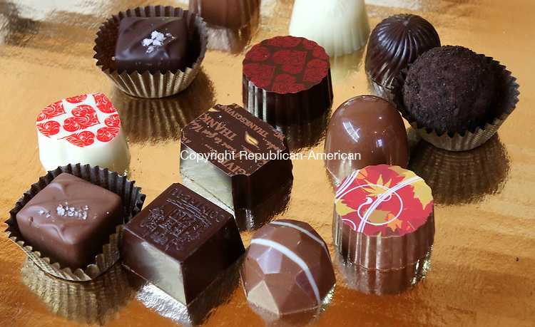 GOSHEN CT. 24 November 2015-112415SV13-A sampling of candy sold at Thorncrest Farm and Milk House Chocolates in Goshen Tuesday.<br /> Steven Valenti Republican-American