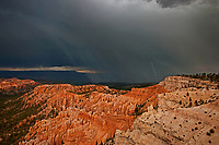 730750203 lightning stikes the valley during a monsoon summer thunderstorm in bryce canyon national park utah united states