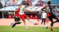27th May 2020, Red Bull Arena, Leipzig, Germany; Bundesliga football, RB Leipzig versus Hertha Berlin;  Patrick Schick (21, RB Leipzig)  shoots and scores for 2:1.