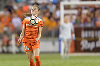 Houston, TX - Wednesday June 28, 2017: Janine Beckie gains control of a loose ball during a regular season National Women's Soccer League (NWSL) match between the Houston Dash and the Boston Breakers at BBVA Compass Stadium.