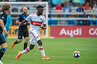 SAN JOSE, CA - MAY 18: C.J. Sapong #9 of the Chicago Fire during a Major League Soccer (MLS) match between the San Jose Earthquakes and the Chicago Fire on May 18, 2019 at Avaya Stadium in San Jose, California.