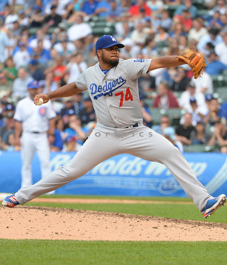 Los Angeles Dodgers Kenley Jansen (74) during a game against the Chicago Cubs on June 25, 2015 at Wrigley Field in Chicago, IL. The Dodgers beat the Cubs 4-0.