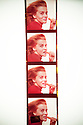 A transparency strip of Ann Margaret eating a carrot, originally photographed by Bert Stern. Photo by, Karie Henderson © 2012