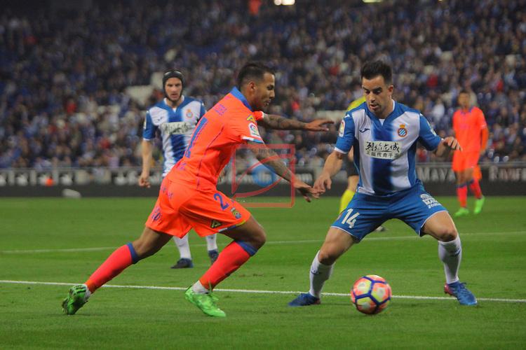League Santander 2016/2017. Game: 27.<br /> RCD Espanyol vs UD Las Palmas: 4-3.<br /> Jonathan Viera vs Jurado.