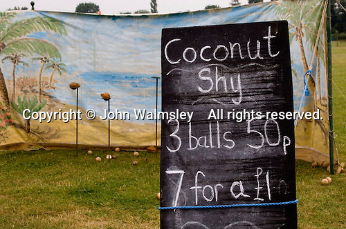 The Coconut Shy.  PTA Fun Day raising funds for the school.  State Junior school..