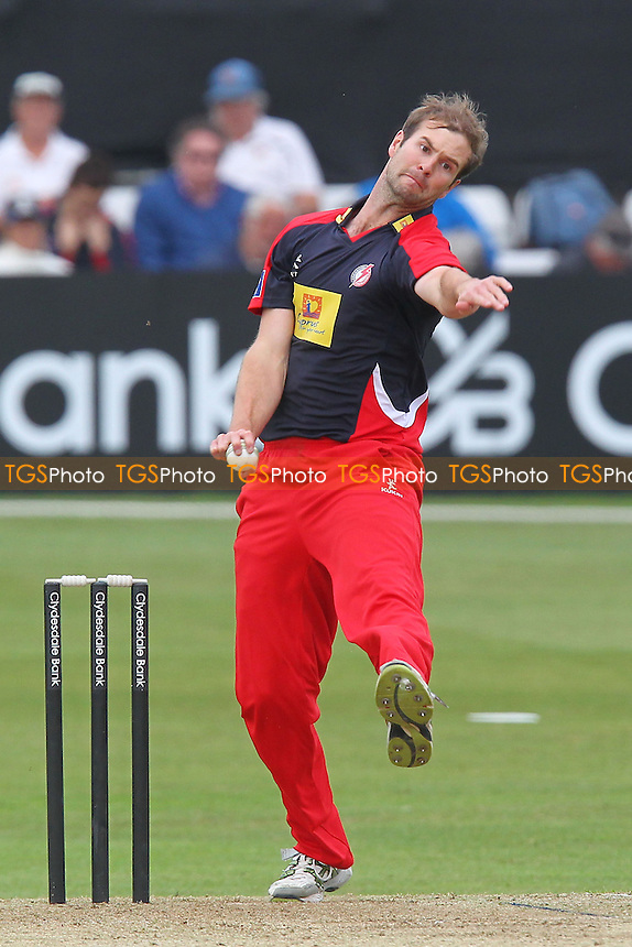 Tom Smith in bowling action for Lancashire - Essex Eagles vs Lancashire Lightning - Yorkshire Bank YB40 Cricket at the Essex County Ground, Chelmsford - 16/06/13 - MANDATORY CREDIT: Gavin Ellis/TGSPHOTO - Self billing applies where appropriate - 0845 094 6026 - contact@tgsphoto.co.uk - NO UNPAID USE