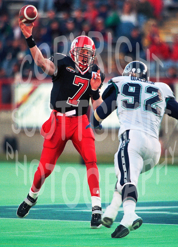 Jeff Garcia Calgary Stampeders quartetback. Photo Mike Ridewood