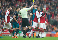 during the EPL - Premier League match between Arsenal and Southampton at the Emirates Stadium, London, England on 8 April 2018. Photo by Andrew Aleksiejczuk / PRiME Media Images.