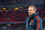 """06.11.2019, Allianz Arena, Muenchen, GER, UEFA CL, FC Bayern Muenchen (GER) vs Olympiakos Piraeus (GRC), Gruppe E, UEFA regulations prohibit any use of photographs as image sequences and/or quasi-video, im Bild Hans-Dieter """"Hansi"""" Flick  (Cheftrainer FCB) <br /> <br /> Foto © nordphoto / Straubmeier"""