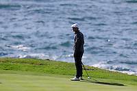 Bryson DeChambeau (USA) on 7th green at Pebble Beach Golf Links during Saturday's Round 3 of the 2017 AT&amp;T Pebble Beach Pro-Am held over 3 courses, Pebble Beach, Spyglass Hill and Monterey Penninsula Country Club, Monterey, California, USA. 11th February 2017.<br /> Picture: Eoin Clarke | Golffile<br /> <br /> <br /> All photos usage must carry mandatory copyright credit (&copy; Golffile | Eoin Clarke)