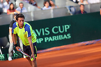 Sergiy Stakhovsky during the qualification for the Davis Cup in Caja Magica, Madrid. September 13, 2013. (ALTERPHOTOS/Victor Blanco)