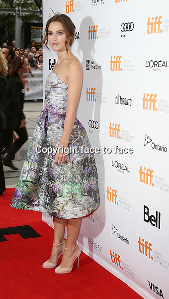 Keira Knightley attending the 2013 Tiff Film Festival Red Carpet for &quot;Can A Song Save Your Life?&quot; at The Princess of Wales Theatre on September 7, 2013 in Toronto, Canada.<br /> Credit: McBride/face to face