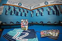 The Matchday Programme in the Home dressing room ahead of the Sky Bet League 2 match between Wycombe Wanderers and Plymouth Argyle at Adams Park, High Wycombe, England on 14 March 2017. Photo by Andy Rowland / PRiME Media Images.
