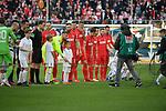 10.04.2019, Schauinsland-Reisen-Arena, Duisburg, GER, 2. FBL, MSV Duisburg vs. 1. FC Koeln,<br />  <br /> DFL regulations prohibit any use of photographs as image sequences and/or quasi-video<br /> <br /> im Bild / picture shows: <br /> Aufstellung Koelner <br /> <br /> Foto &copy; nordphoto / Meuter