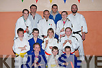 MEDALS: Members of the Kerry School of Judo who done very well in the All Ireland Judo Championships in Dublin last week- end, now back in training at their headquarters on Tuesday evening. They were: Aaron O'Brien, Fiona Waltz, Rachel Patton, Willie Power and Cillian Brosnan (Gold meadlist), Sadhbh Brosnan, Siobhan Long, JT Denihan (Senior) Bronze winners) also in pic were instructors who congratulated the team, Thomas Patton (Coach), Eoin Brosnan, Danny Roche (Coach), David Long, Colie Patton and Michal Vavreck...........   Copyright Kerry's Eye 2008