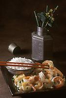 Asie/Chine/Jiangsu/Nankin: Crevettes du Lac de l'Ouest
