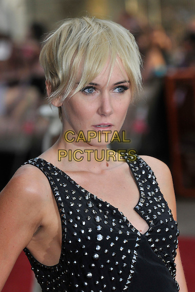 """KIMBERLY STEWART .Red Carpet Arrivals at the """"Sex And The City"""" Movie World Premiere, Odeon Leicester Square, London, England, UK,.May 12th 2008..portrait headshot black studded dress silver.CAP/PL.©Phil Loftus/Capital Pictures"""