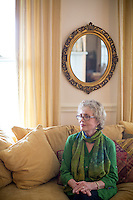Copyright Justin Cook | November 12, 2013 - <br /> Lee Smith, author of Guests On Earth, a novel about the late Zelda Fitzgerald, at her home in Hillsborough, N.C.