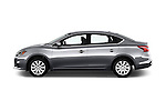 Car Driver side profile view of a 2017 Nissan Sentra SV 4 Door Sedan Side View