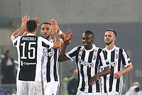 Mehdi Benatia of Juventus  celebrates after scoring during the  Coppa Italia ( Tim Cup) final soccer match,  Ac Milan  - Juventus Fc       at  the Stadio Olimpico in Rome  Italy , 09 May 2018