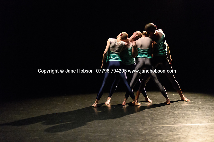 "Julie Cunningham & Company present ""Returning"" and ""To Be Me"", in a double bill, in The Pit, at the Barbican Centre. The piece shown is ""Returning"". The dancers are: Julie Cunningham, Harry Alexander, Hannah Burfield, Alexander Williams."