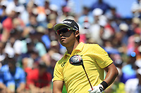 Hideki Matsuyama (JPN) tees off the 1st tee to start his match during Friday's Round 2 of the 117th U.S. Open Championship 2017 held at Erin Hills, Erin, Wisconsin, USA. 16th June 2017.<br /> Picture: Eoin Clarke | Golffile<br /> <br /> <br /> All photos usage must carry mandatory copyright credit (&copy; Golffile | Eoin Clarke)