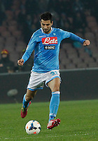 Raul Albiol   in action during the Italian Serie A soccer match between SSC Napoli and AS Roma   at San Paolo stadium in Naples, March 09 , 2014