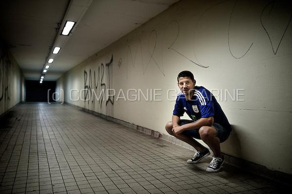 Serbian football player Aleksandar Mitrović in Brussels (Belgium, 15/08/2013)