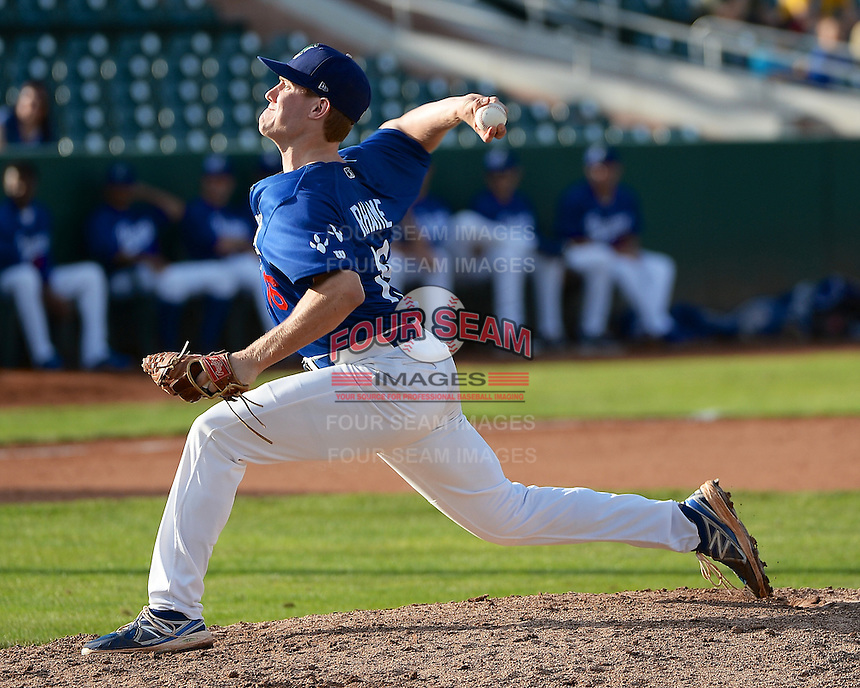 Jacob Rhame (16) of the Ogden Raptors in action against the Grand Junction Rockies in Pioneer League play at Lindquist Field on September 8, 2013 in Ogden Utah.  (Stephen Smith/Four Seam Images)