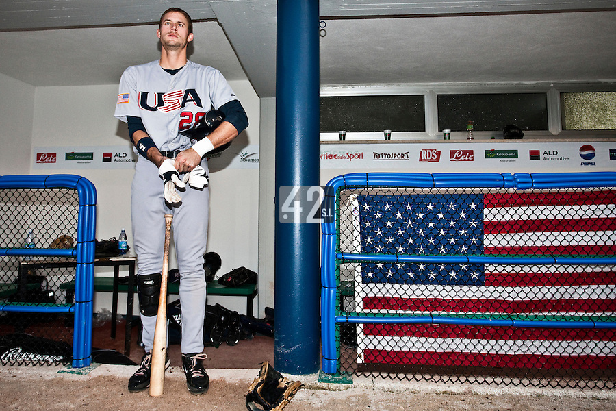 25 September 2009: Buck Coats of Team USA is seen prior to the 2009 Baseball World Cup final round match won 8-2 by Team USA over Netherlands, in Nettuno, Italy.