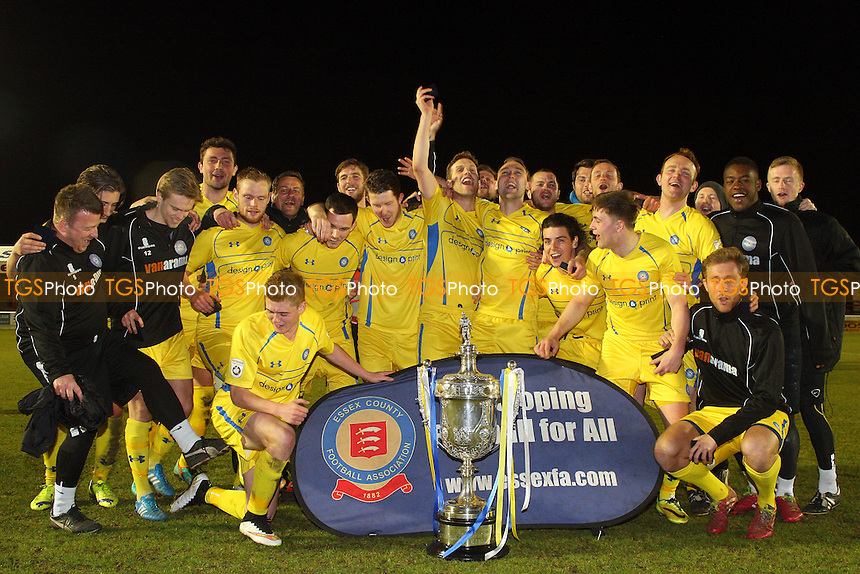Concord Rangers winners of the 2015 Essex Senior Cup - Billericay Town vs Concord Rangers in the BBC Essex Senior Cup Final at the London Borough of Barking and Dagenham Stadium on 20/04/15 - MANDATORY CREDIT: Dave Simpson/TGSPHOTO - Self billing applies where appropriate - 0845 094 6026 - contact@tgsphoto.co.uk - NO UNPAID USE