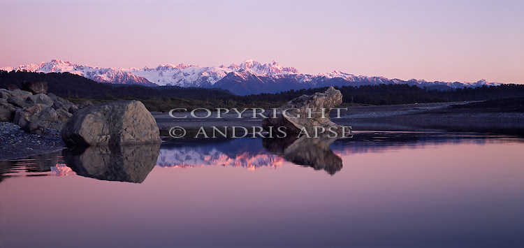 Three Mile Lagoon. Westland Region. New Zealand.
