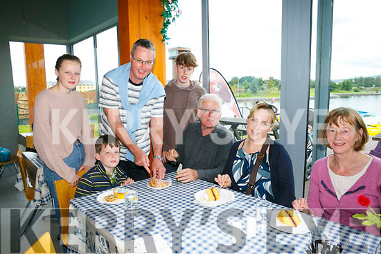 Tralee Bay Wetlands Centre and the Lakeside Café are hosting a Cake Sale and Coffee morning with all donations and proceeds going to MS Ireland. Pictured Cian Thompson, Kerry Lewis, Jennifer Thompson, Ber Lewis, Paul Thompson, Conor Thompson, Katelyn Thompson