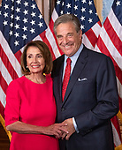 Speaker of the United States House of Representatives Nancy Pelosi (Democrat of California) and her husband, Paul, pose for a photo at the mock swearing-in ceremonies as the 116th Congress convenes for its opening session in the US Capitol in Washington, DC on Thursday, January 3, 2019.<br /> Credit: Ron Sachs / CNP<br /> (RESTRICTION: NO New York or New Jersey Newspapers or newspapers within a 75 mile radius of New York City)