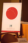 """April 1, 2011, Tokyo, Japan - A sign of the 2:46: Aftershocks: Stories from the Japan Earthqauke on display at a press conference. The Twitter-sourced #Quakebook project was created in one week by a group of journalists to raise money for the earthquake and tsunami victims. The 98-page book titled """"2:46: Aftershock: Stories from the Japan Earthquake"""" was launched by a Briton journalist turned blogger living in Tokyo who goes by the handle name """"Our Main in Abiko."""" People from all over the world have been contributing to this fundraising project including some well-known individuals such as artist Yoko Ono and has already received global attention from individuals, the media and large corporations willing make this project one of a kind. One hundred percent of the proceeds will be donated to the Japanese Red Cross Society. (Photo by Christopher Jue/AFLO) [2331]"""