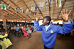 Pastor Isaac Sebit preaches during Sunday morning worship at the United Methodist Church in Yei, a town in Central Equatoria State in Southern Sudan. NOTE: In July 2011, Southern Sudan became the independent country of South Sudan
