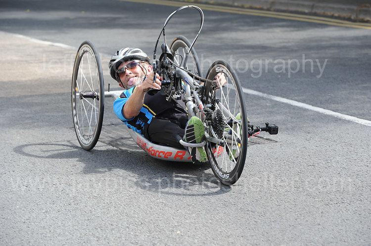 "One of the ompetitors during the Abergavenny Festival of Cycling ""Para Grand Prix of Wales"" race on Sunday 17th 2016<br /> <br /> <br /> Jeff Thomas Photography -  www.jaypics.photoshelter.com - <br /> e-mail swansea1001@hotmail.co.uk -<br /> Mob: 07837 386244 -"