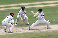 Tim Ambrose of Warwickshire pads up to a delivery during Essex CCC vs Warwickshire CCC, Specsavers County Championship Division 1 Cricket at The Cloudfm County Ground on 22nd June 2017