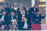 06.10.2018, Allianz Arena, Muenchen, GER, 1.FBL,  FC Bayern Muenchen vs. Borussia Moenchengladbach, DFL regulations prohibit any use of photographs as image sequences and/or quasi-video, im Bild Karl-Heinz Rummenigge (Vorstandsvorsitzender FCB) Uli Hoeness (Praesident FCB) <br /> <br />  Foto &copy; nordphoto / Straubmeier