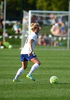 Kansas City, MO - Sunday August 28, 2016: Natasha Dowie during a regular season National Women's Soccer League (NWSL) match between FC Kansas City and the Boston Breakers at Swope Soccer Village.