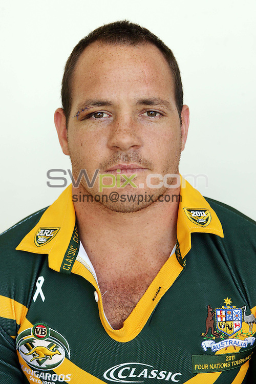 PICTURE BY Australian Rugby League…Rugby League - Australia Rugby League Headshots 2011 - 20/10/11…Australia's Matt Scott.